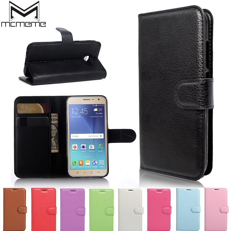Galleria fotografica MCMEME Case for coque Samsung J3 Case Silicone Cover Case for coque Samsung Galaxy J3 2016 Case Leather Cover J3 6 J320 J320F