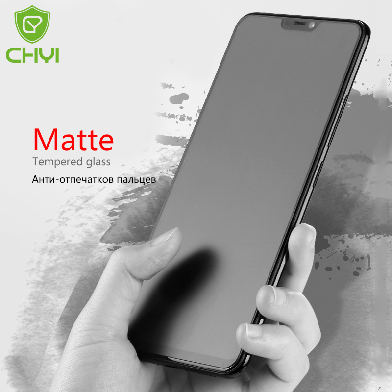 CHYI Matte Glass For Oneplus 6 Screen Protector Anti Fingerprint Tempered Glass With Oleophobic Coating 9H Frosted Glass 1+6