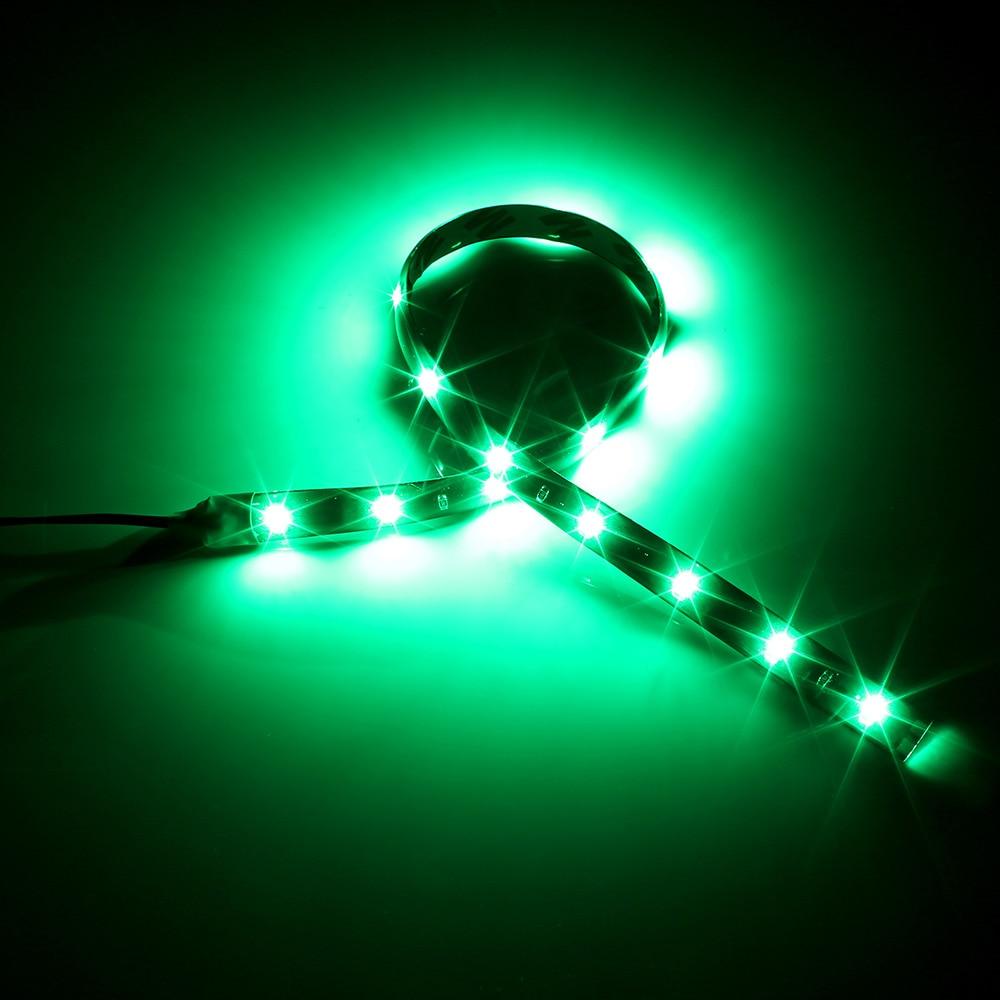 HTB1yaatXEz1gK0jSZLeq6z9kVXaf Waterproof Car Auto Decorative Flexible LED Light Strip 12V 30cm 15SMD Car LED Daytime Running Light Car LED Strip Light DRL