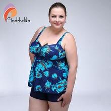 Andzhelika Plus Tamaño XXL-6XL 2016 Verano Mujeres Nadar Vestido de Impresión de Una Pieza Trajes de Baño Traje de Baño Atractivo de Monokini AK06155