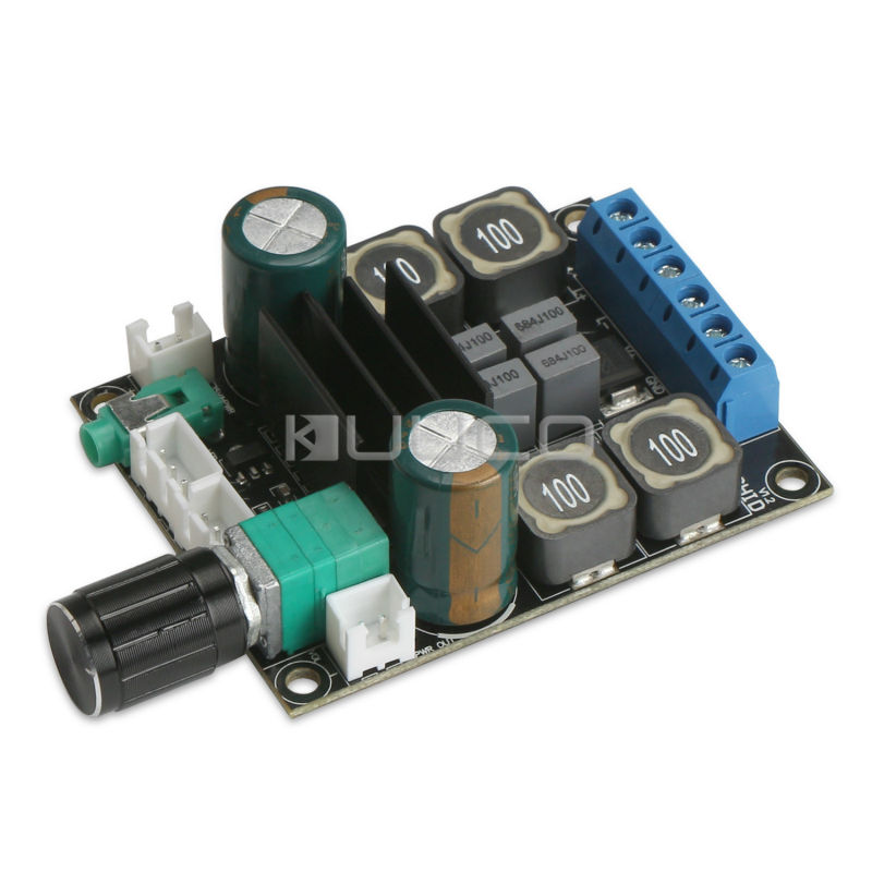 5 PCS/LOT Amplifier Module TPA3116 Speaker Power Amplifier Board DC 12V 24V 2.0 Dual-Channel Amplifier Board 50W Audio Amplifier power audio 4channels amplifier blue board amplifier with 3300uf capacitors