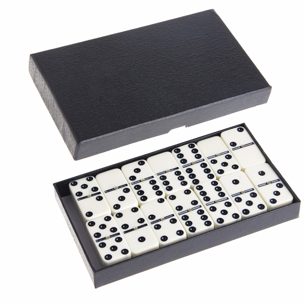 Wooden Domino Box Toy Game Set/28Pcs Travel Dominoes Ideal For Children Kids