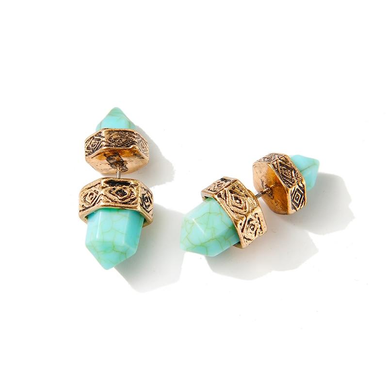 European Ethnic Jewelry Silver Gold Earringss