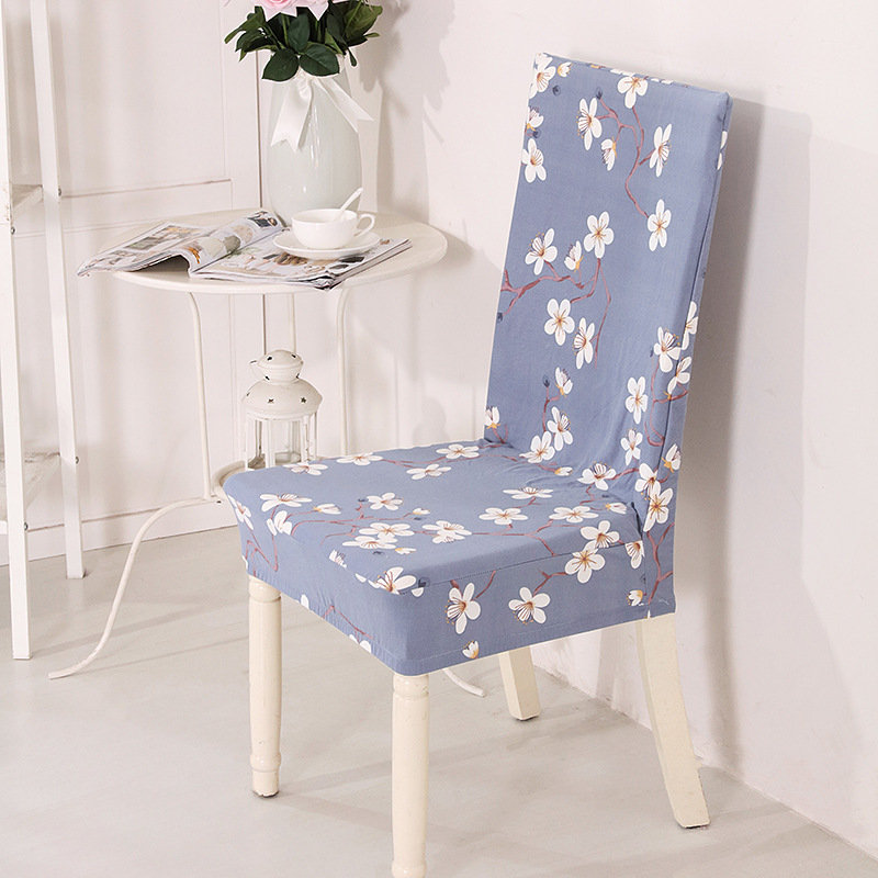 Elegant Flower Print Chair Cover Spandex For Kitchen