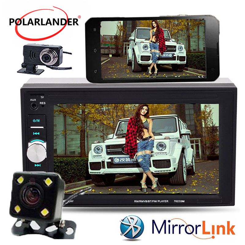 Camera//DVR 6.2/'/' 2 Din Car Radio Stereo MP5 Mirror Link Bluetooth Touch screen
