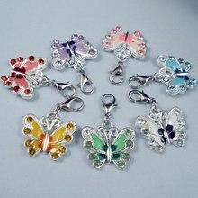 Mic 42 шт разных цветов цветы бабочки шармы пангенты 215x35