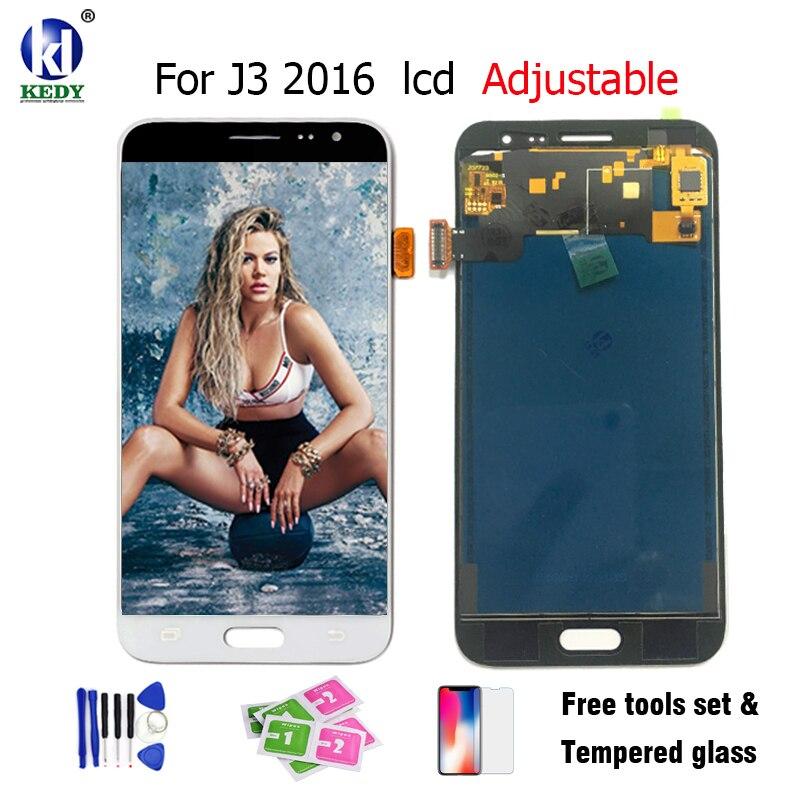 KEDY Écran lcd Avec Écran Tactile Pour Samsung Galaxy J3 2016 J320 J320A J320F J320M J320FN LCD Peut Régler La Luminosité Outils Gratuits