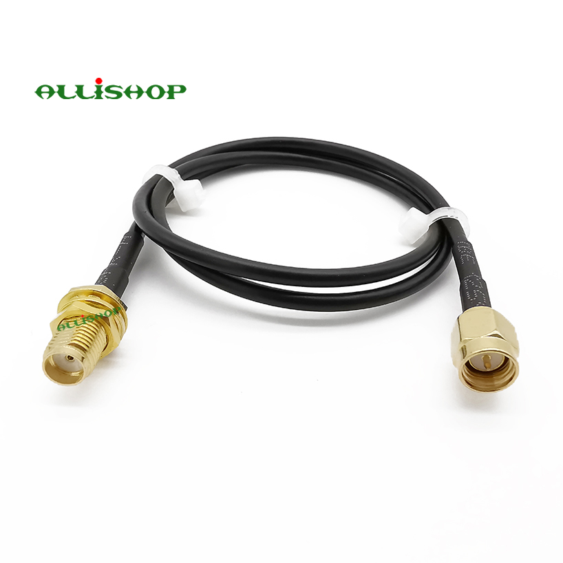 SMA Male To SMA Female Bulkhead Antenna Extension Cable RG174 For 4G LTE WiFi Bluetooth Wireless Router 7/10/15/20/30/50CM/1M