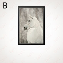 Haochu скандинавский белый конь современная простая картина
