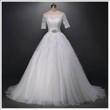 Новое Женское платье с полурукавами великолепное невесты вырезом