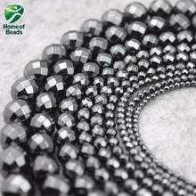 AAA Grade Hematite Loose Faceted Spacer Beads Black Color 2 3 4 5 6 8 10 12mm (30 pieces/lot) For DIY Jewelry Making HLB1011