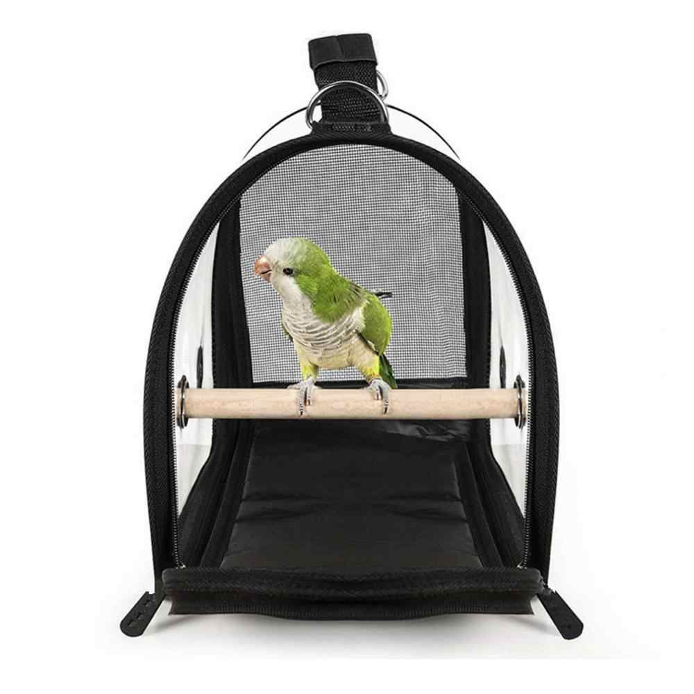 Waterproof lightweight bird carrier handbag breathable transparent parrot travel outing backpack