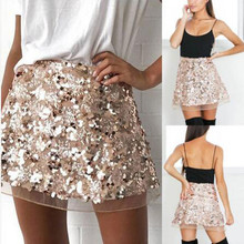 Women's high waist tight skirt sequin party casual short mini skirt Taillierter enger Rock falda corta casual#YL-25