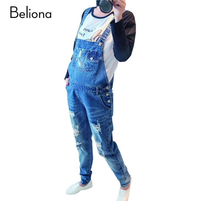 Designers da marca Buracos Jeans Maternidade para As Mulheres Grávidas Macacão Jeans Macacão Calças Queda Primavera Maternidade Roupas Gravidez