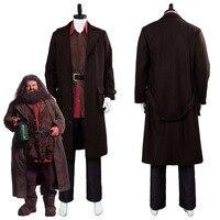 Rubeus Хагрид косплей костюм Взрослый мужской нарядный Хэллоуин косплей изготовленные на заказ костюмы