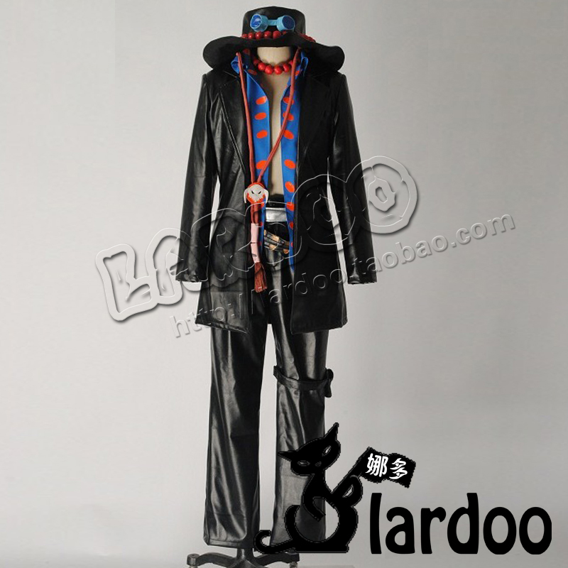 One piece Portgas D Ace Cosplay Costume with hat