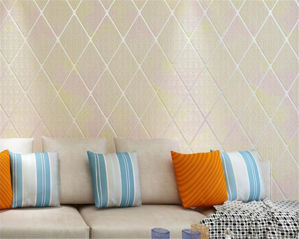 beibehang Modern minimalist 3D living room TV background wall paper bedroom bedside rhombic striped deerskin wallpaper behang beibehang modern minimalist deerskin cashmere wallpaper 3d fashion thickened abstract geometric pattern nonwovens 3d wallpaper
