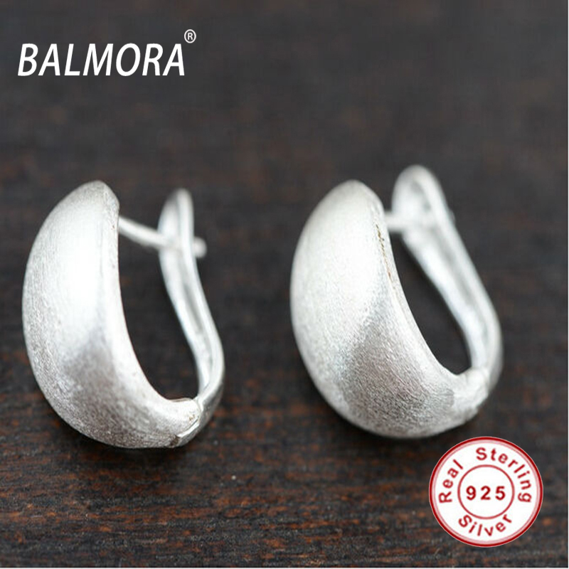 100 real pure 925 sterling silver jewelry simple fashion earrings jewelry for women party gifts Free