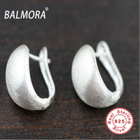100 Real Pure 925 Sterling Silver Earrings Elegant Drawbench Earrings Jewelry Women Best Gift Free Shipping