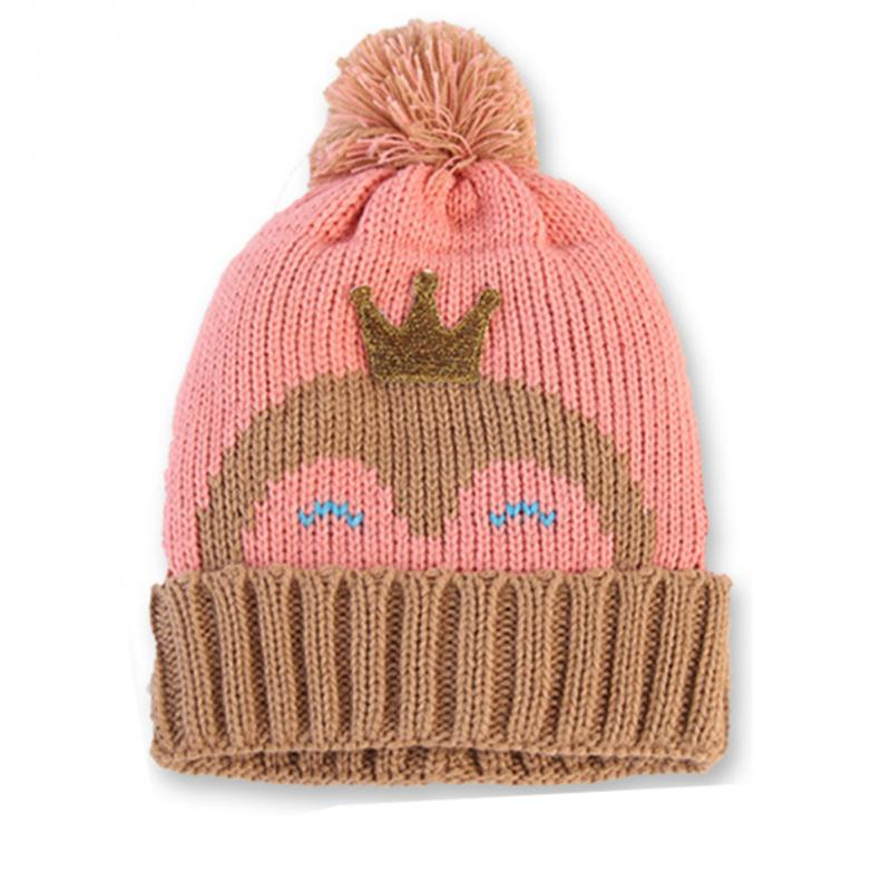 New Autumn Winter Crown Penguin Pattern Cute Infants Baby Kids Knitted Hat  Wool Velvet Cap Knot Hat-in Hats   Caps from Mother   Kids on  Aliexpress.com ... 4d31e39c4ee4