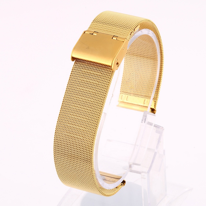 Newest Fashion 12-24mm Universal Stainless Steel Metal Milanese Watchband Watch Band Strap Bracelet Black Rose Gold Silver