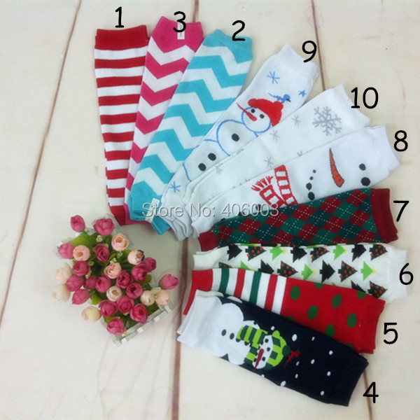 2014 Christmas cotton leg warmers girl socks football leg warmers red knee high socks baby girls leg warmers free shipping