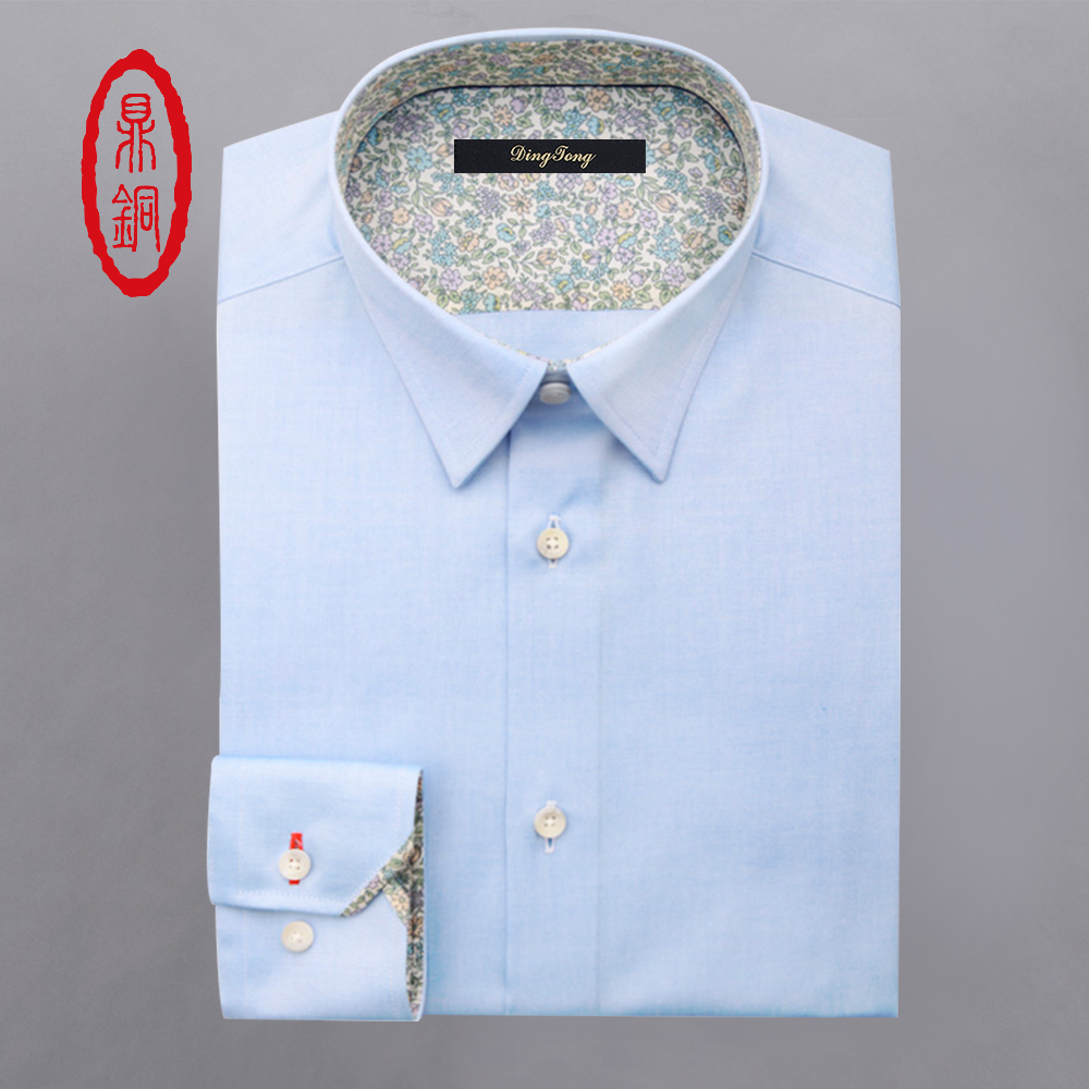 DINGTONG Hombres Oxford Custom Fit Camisas de Algodón de