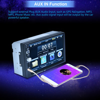 New 7026 HD 1080P Digital 7 Inch Touch Screen Car Multimedia Player For Mobile Phone Interconnection
