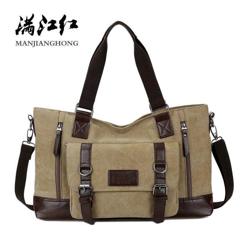 Large Capacity Casual Men Shoulder Bags Handbag Vintage Messenger Bag Men Canvas Patchwork Leather Crossbody Bags For Men 1324 цена 2017