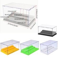 3 шага Дисплей Case / Box Пылезащитный ShowCase Серый База для блоков Акриловая пластиковая коробка для дисплея Case 25.5X15.5X13.8cm