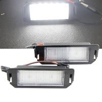 1 Pair 6000K Car LED License Plate Lamp Lights For Hyundai I20 Veloster FS 11 15