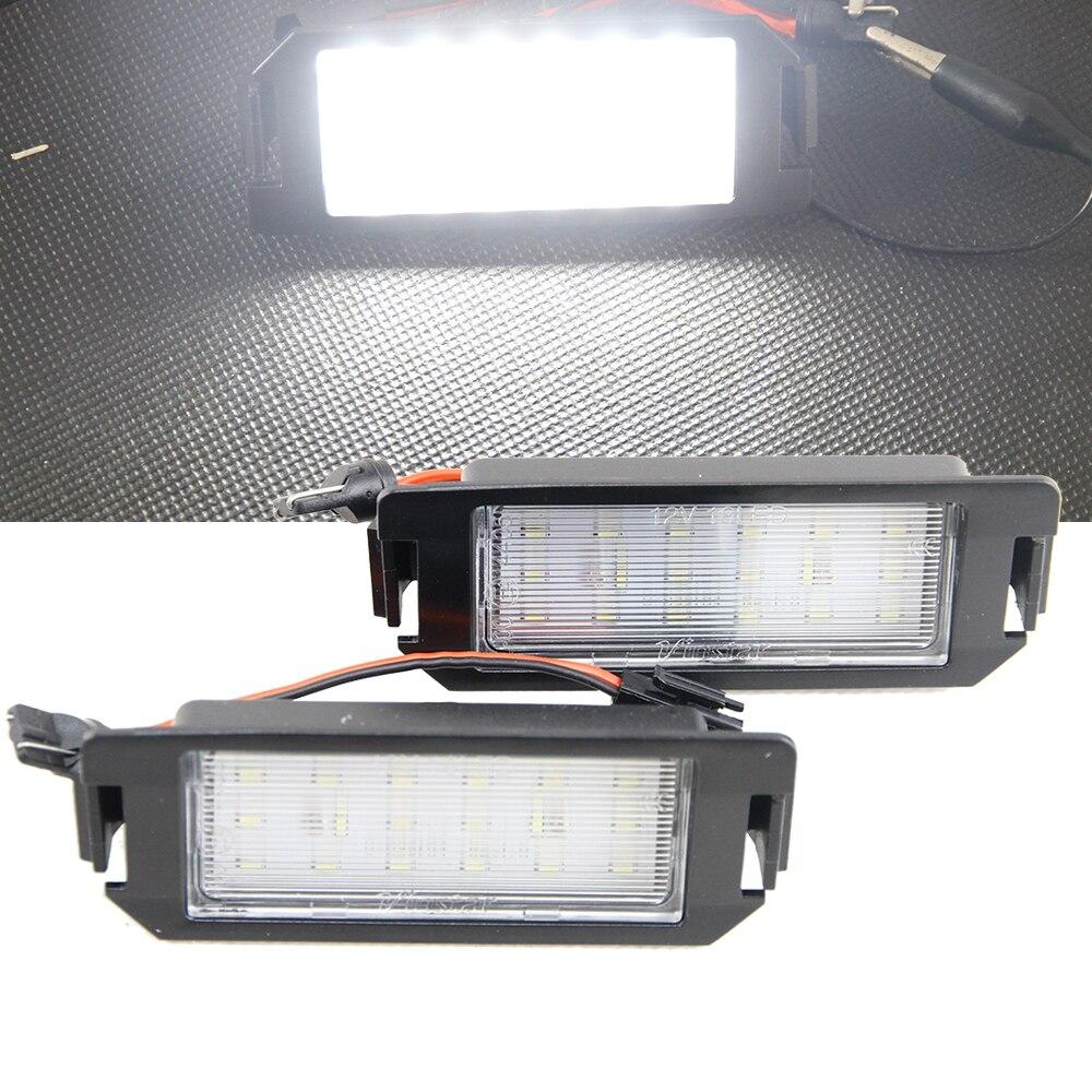 1 Pair 6000K Car LED License Plate Lamp Lights For Hyundai I20, Veloster FS 11-15, XG 30 98-05 Terracan HP 01-06 Coupe GK 02-09