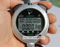 PC2250A Professional Stopwatch Large screen Digital LCD Timer Chronograph Counter with 2 Row 50 Memories Stop Watch Brand