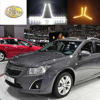 For Chevrolet Cruze 2014 2015 LED Daytime Running Light DRL Fog lamp cover with Yellow Turning signal lamp