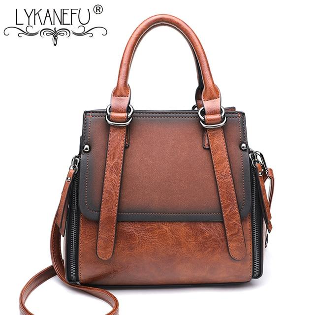 8ce650fe475b LYKANEFU Brand Retro Women Bag Tote Women s Shoulder Bags Women Handbag  Designer High Quality Female Bag Lady Purse