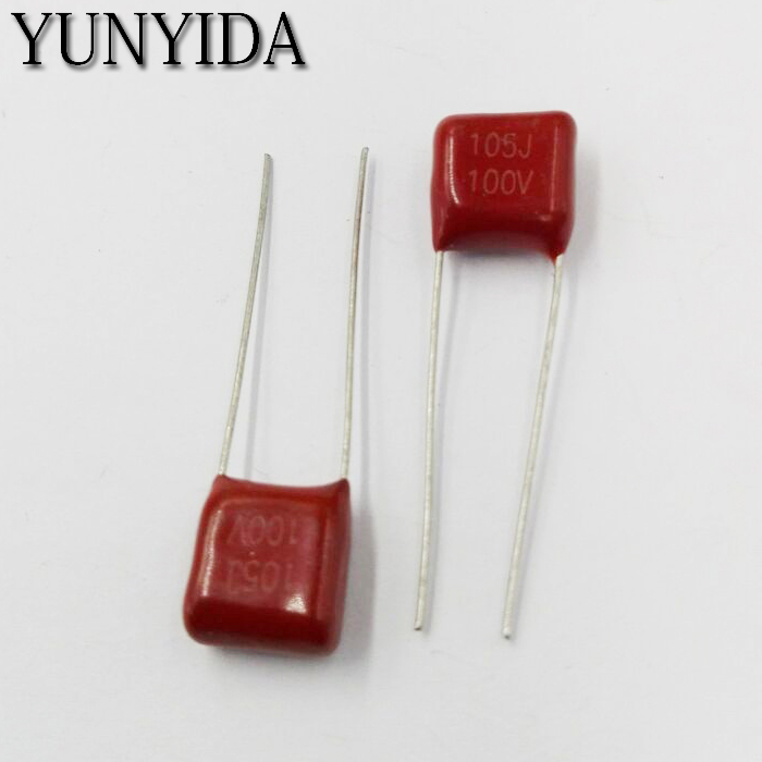 Free Shipping 10pcs, CBB 105J 100V  1UF   P7.5mm  Metallized Film Capacitor