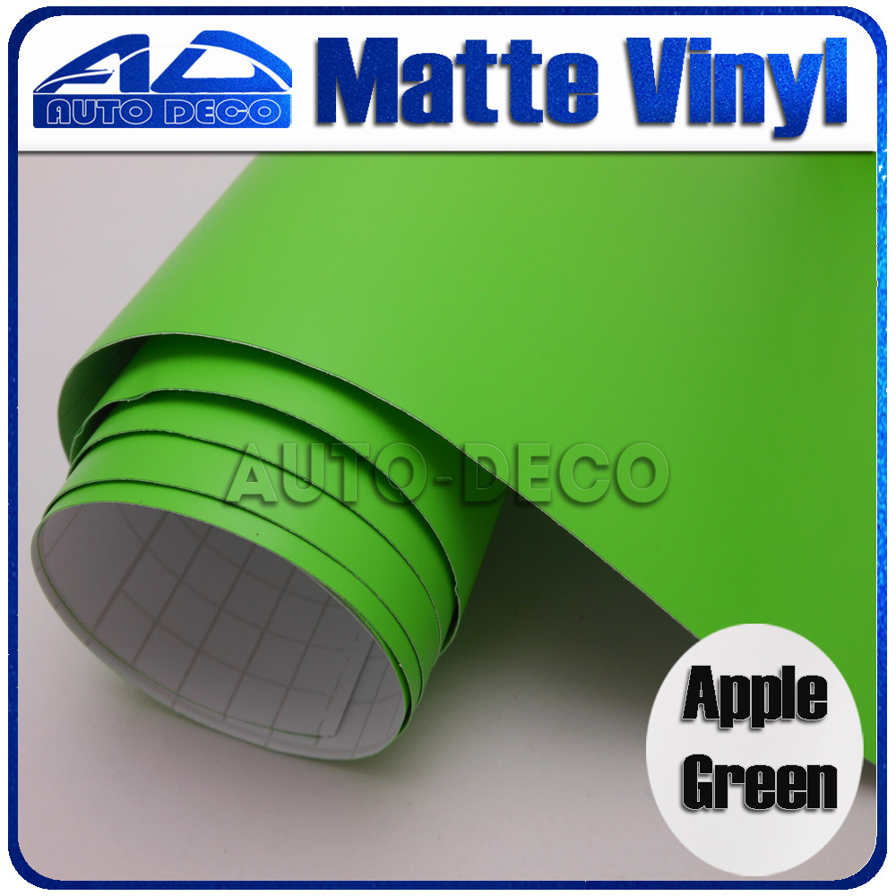 Natural style Apple Green Matte Vinyl Wrap  Car sicker film for car wrapping with air channel FedEx Free Shipping 30/roll часы nixon corporal ss matte black industrial green