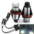 Qook 2 conjuntos h8 led angel eyes luz para bmw e60 e61 e63 e64 e70 X5 X6 E71 E82 E87 E89 Z4 E90 E91 E92 E93 M3 Angel Eyes luz