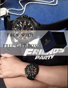 Image 5 - Relogio Masculino MEGIR mężczyźni oglądać najlepsze luksusowe marki Chronograph kalendarz zegarek sportowy wojskowy armia guma mężczyzna zegar 2053