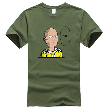 2017 summer T-shirt One Punch Man Hero Saitama Oppai anime cartoon men's T-shirts cotton hot t shirt men kpop brand clothing top 1