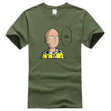 One Punch Man Saitama T-shirts – green