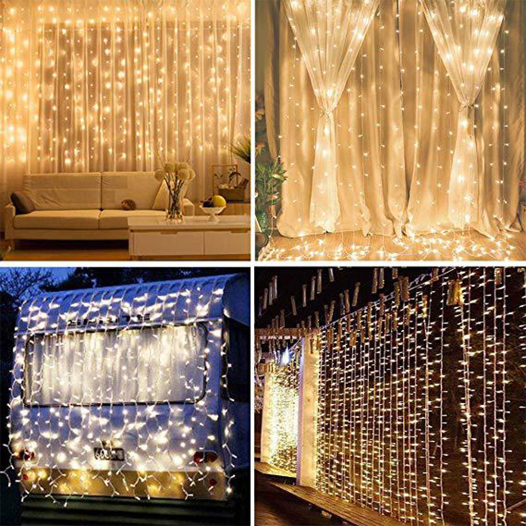 3x2/4x2/6x3m 150 LED Icicle Fairy String Lights Christmas Led Wedding Party Fairy Lights Garland Outdoor Curtain Garden Decor