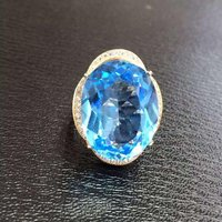 Новинка 2017 года QI xuan_blue камень Модные украшения Rings_Finger rings_rose золото Цвет синий камень rings_manufacturer непосредственно продаж