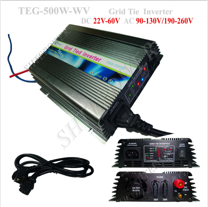 Grid tie output ac 240v 500w dc to ac power inverter for home solar system 500w micro grid tie inverter for solar home system mppt function grid tie power inverter 500w 22 60v