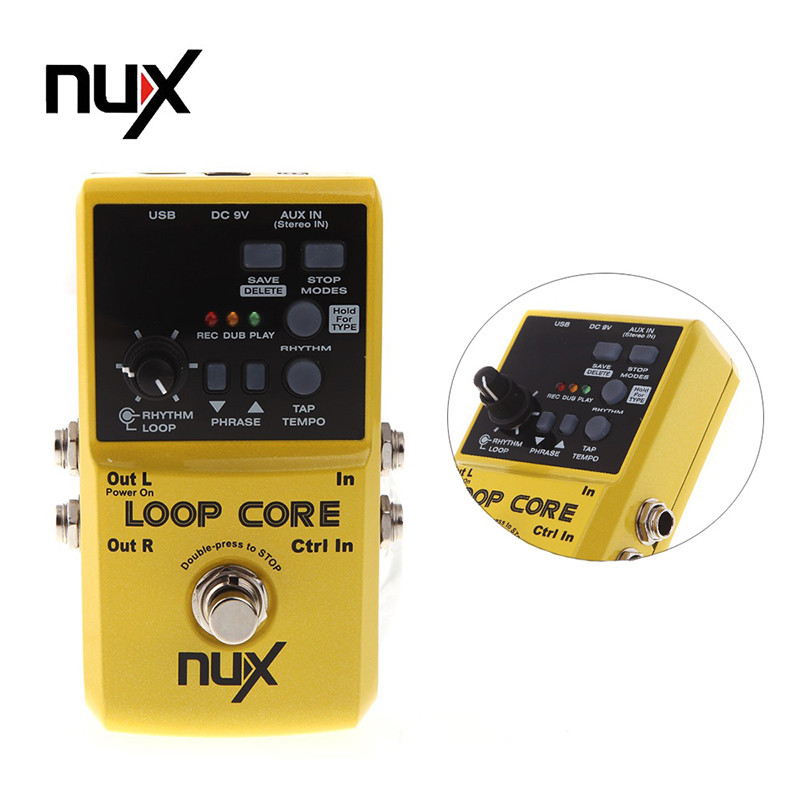 nux loop core guitar effects pedal looper pedals looping station 6 hours recording time built in. Black Bedroom Furniture Sets. Home Design Ideas