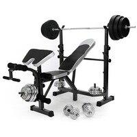 Новый все в один плоский фитнесс разновесы скамейке Multi тренажерный зал Dumbell тренировки Abs ног бар сгибание рук тренажеры Лидер продаж