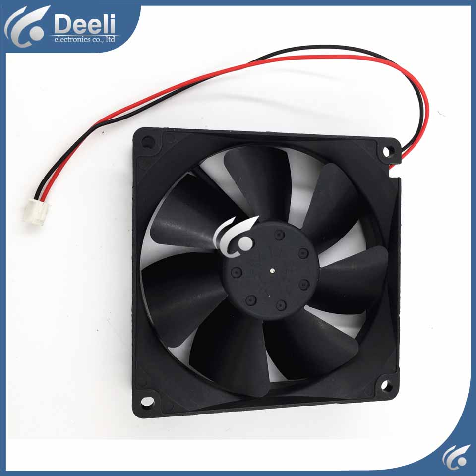 2pcs new good working refrigerator cooling fan NMB 9225 12V 0.43A 3610KL-04W-B50 3K UPS fan 92*92*25MM good Working on sale new original nmb 3615kl 05w b50 24v 0 32a 92 92 38mm 9cm for abb inverter dedicated cooling fan