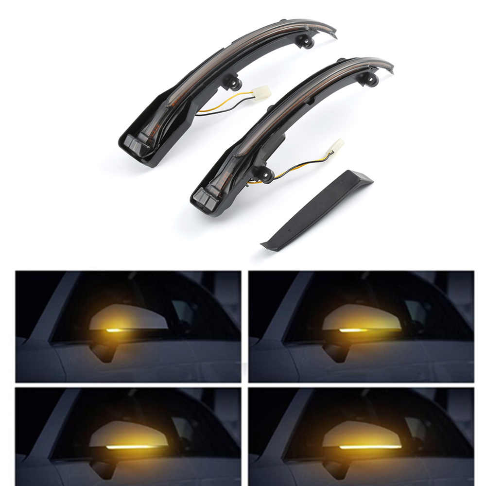 Dynamic Turn Signal LED Side Rearview Mirror Indicator Blinker Repeater Light For Audi Q5 SQ5 8R 2010-2017 Q7 Facelift 2010-2015