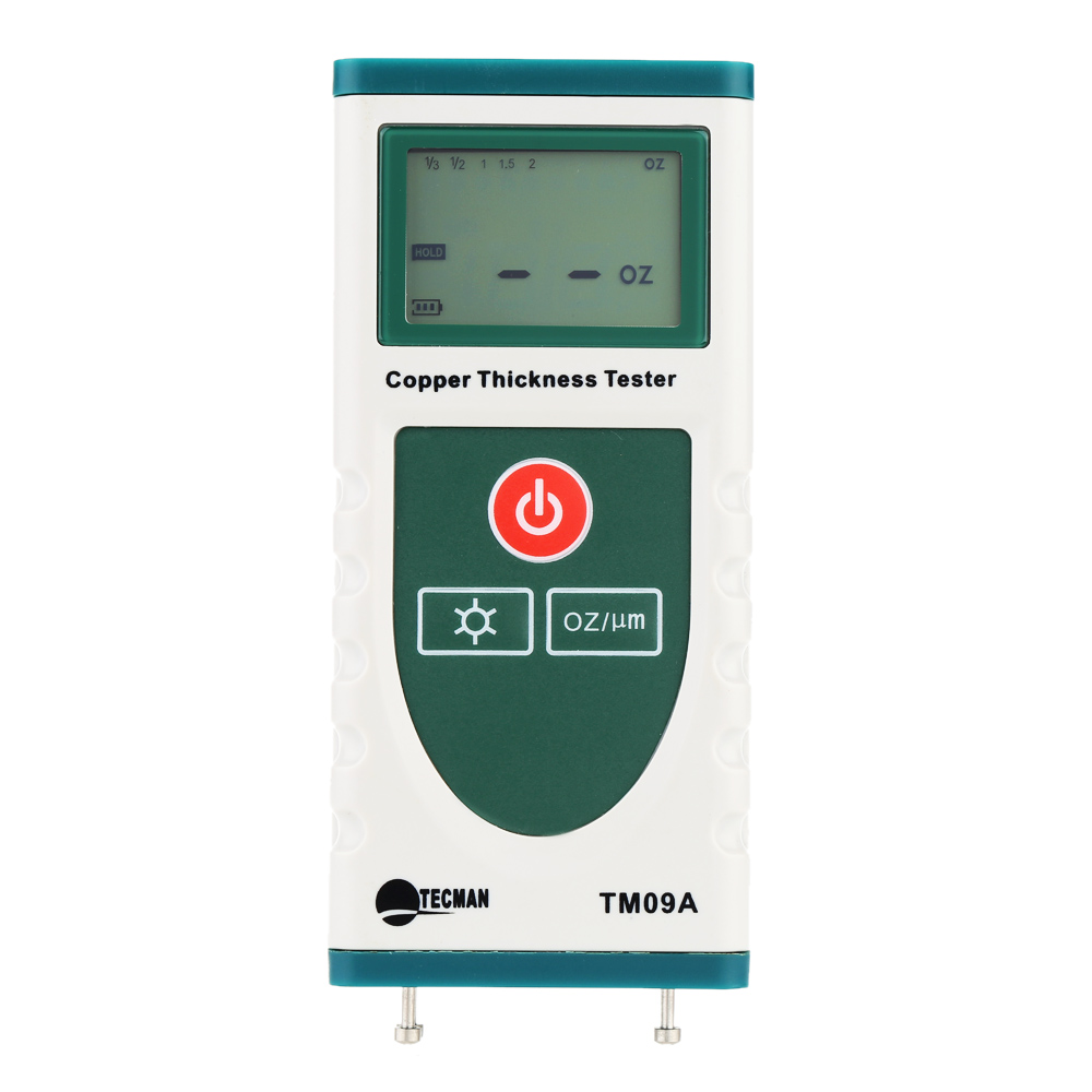 TM09A High Precision Digital Copper Foil Thickness Tester Gauge for PCB Copper-clad Meter LCD Backlight 0 OZ to 2 OZ. tm09a high precision digital copper foil thickness tester gauge for pcb copper clad meter lcd backlight 0 oz to 2 oz
