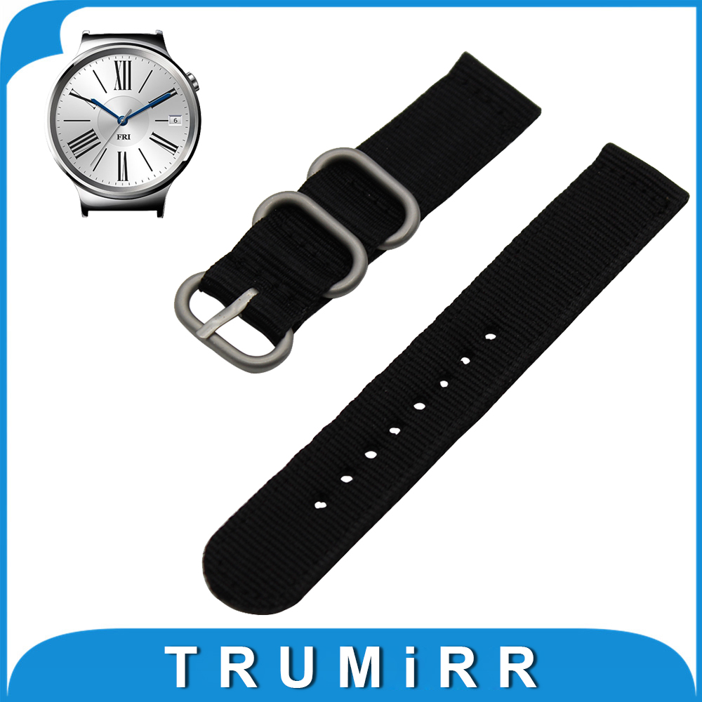 18mm Nylon Watchband for Huawei Watch / Fit Honor S1 Zulu Strap Fabric Band Replacement Wrist Belt Bracelet Black Gray Brown